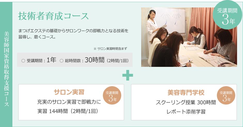 [美容師国家資格取得支援]技術者育成コース